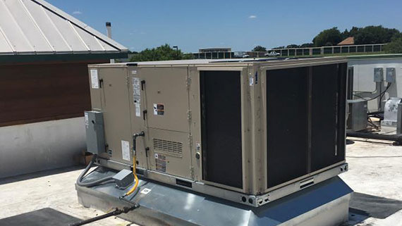 commercial heating, ventilation and air conditioning unit installation