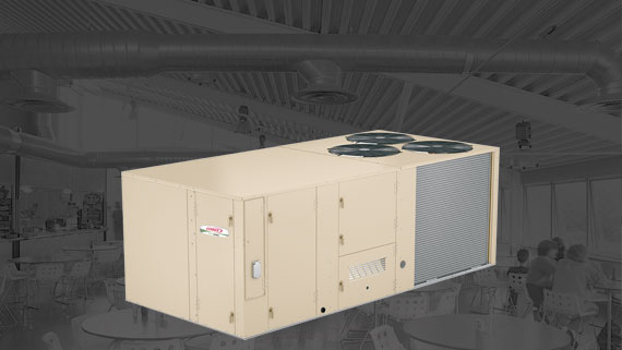 commercial heating, ventilation and air conditioning rooftop unit
